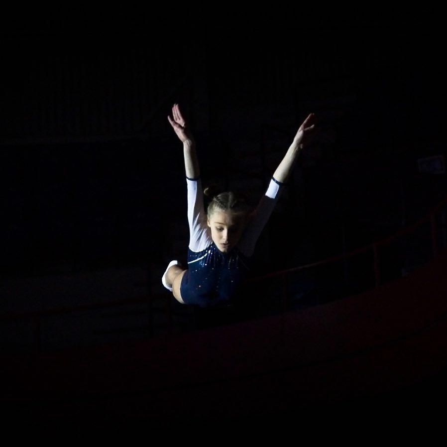 Megan Brouwers, Foto Peter Kasbergen, Trampolinespringen